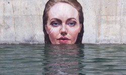 Graffiti submersible par Sean Yoro