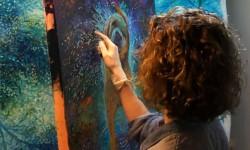 Peintures avec ses doigts par Iris Scott