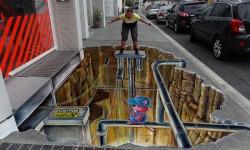 L'art de rue 3 D de Leon Keer